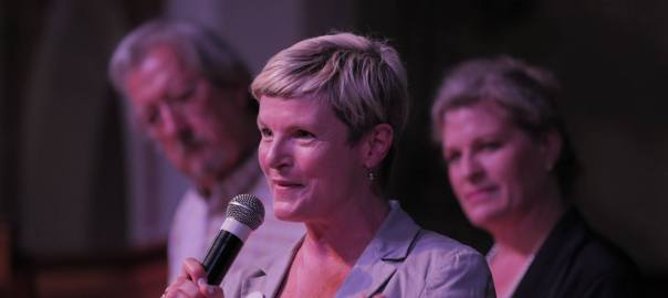 Nell Schofield Master of Ceremonies at Sustainable Futures Convention 2017, 25-26 March Gloucester NSW